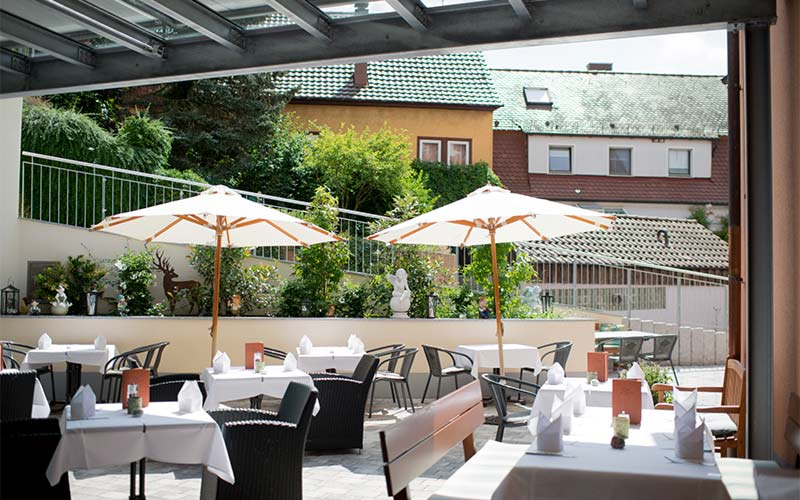 Terrasse-Wintergarten